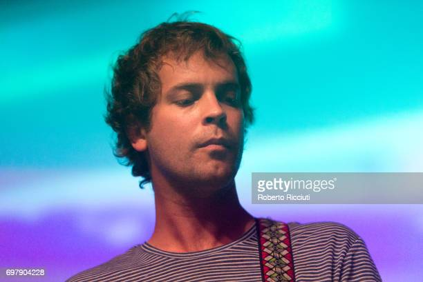Jay Watson of Australian band Pond performs on stage at The Art School on June 19, 2017 in Glasgow, Scotland.