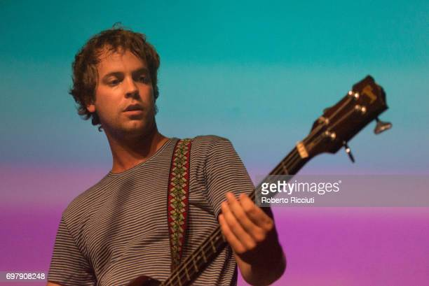 Jay Watson of Australian band Pond performs on stage at The Art School on June 19 2017 in Glasgow Scotland