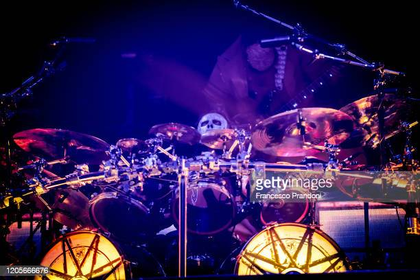 Jay Weinberg of Slipknot performs on February 11 2020 in Milan Italy