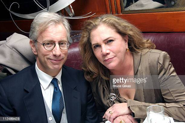 Jay Weiss and Kathleen Turner during Opening Night of Edward Albee's revival of Who's Afraid of Virginia Woolf on Broadway at The Longacre Theater in...