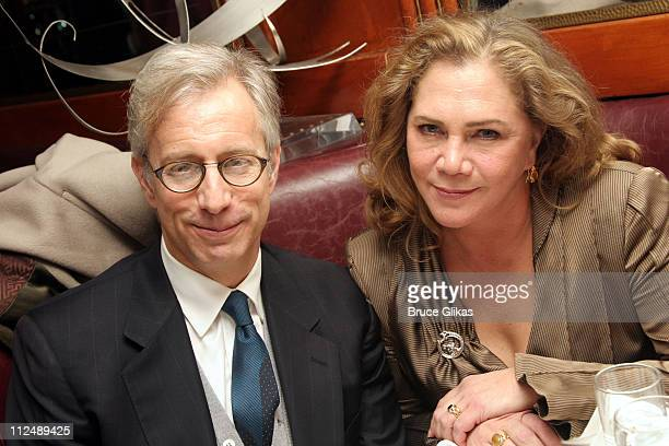 """Jay Weiss and Kathleen Turner during Opening Night of Edward Albee's revival of """"Who's Afraid of Virginia Woolf?"""" on Broadway at The Longacre Theater..."""