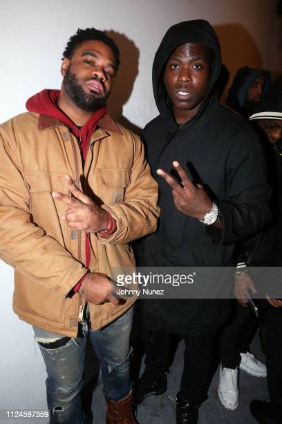 Jay West and Casanova backstage at Stoop Talks with A$AP Rocky Dapper Dan at Terminal 5 on February 12 2019 in New York City
