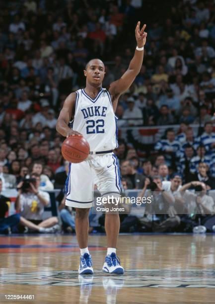 Jay Williams, Guard for the Duke University Blue Devils during the NCAA Atlantic Coast Conference Men's Basketball Tournament semi - final basketball...