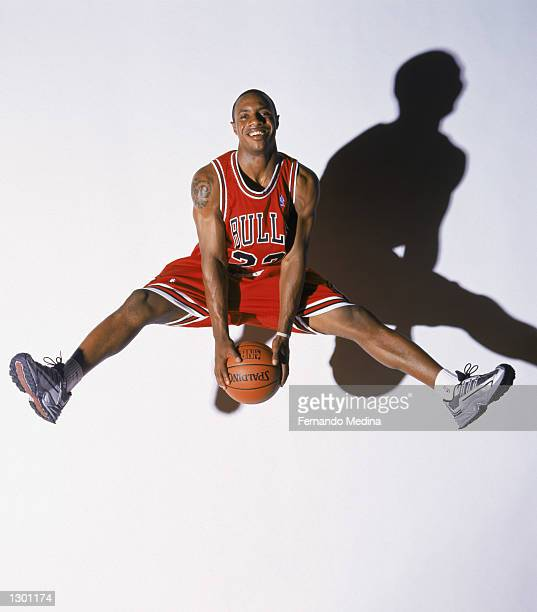 Jay Williams of the Chicago Bulls poses for a portrait during the 2002 NBA Rookie Shoot on August 3 2002 at St Peter's Prep School in Jersey City New...