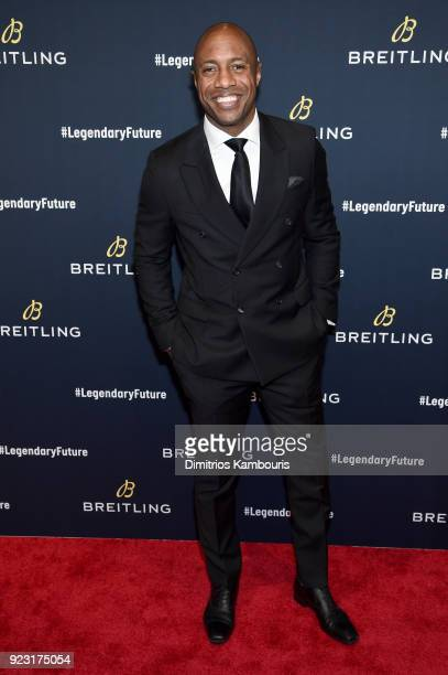 Jay Williams on the red carpet at the #LEGENDARYFUTURE Roadshow 2018 New York on February 22 2018