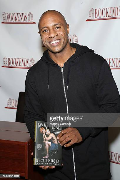Jay Williams signs copies of his new book Life Is Not An Accident at Bookends Bookstore on January 26 2016 in Ridgewood New Jersey