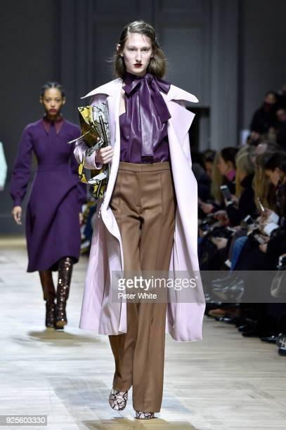 Jay Wright walks the runway during the Rochas show as part of the Paris Fashion Week Womenswear Fall/Winter 2018/2019 on February 28 2018 in Paris...