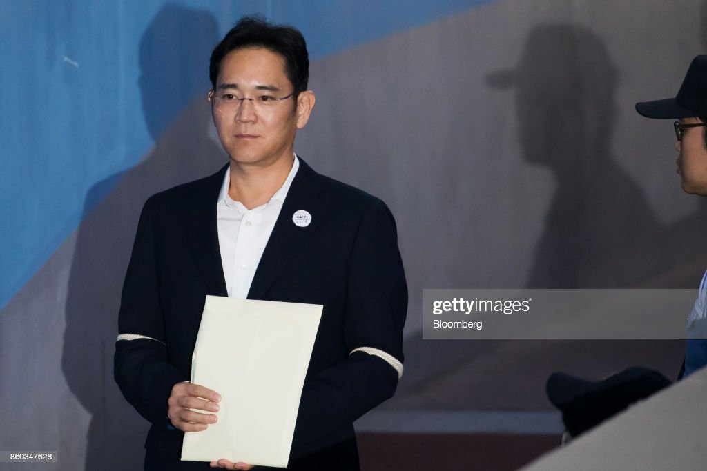 Billionaire Samsung Heir Jay Y. Lee Arrives At Court Of Appeal Hearing : News Photo