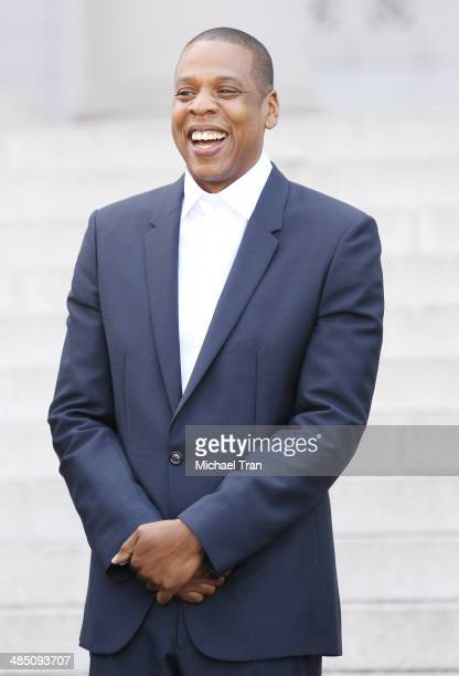Jay Z aka Shawn Carter attends the announcement of The Budweiser Made in America Music festival held at Los Angeles City Hall on April 16, 2014 in...