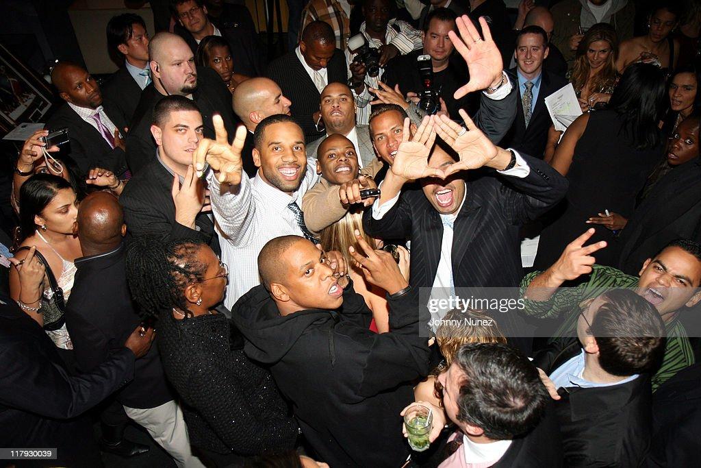Jay Z, Alex Rodriguez And Roc La Familia During Alex Rodriguez And Jay Z  Celebrity
