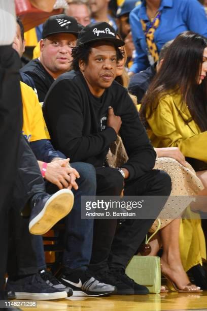 Jay Z and Beyonce attend Game Three of the NBA Finals between the Golden State Warriors and Toronto Raptors on June 5, 2019 at ORACLE Arena in...