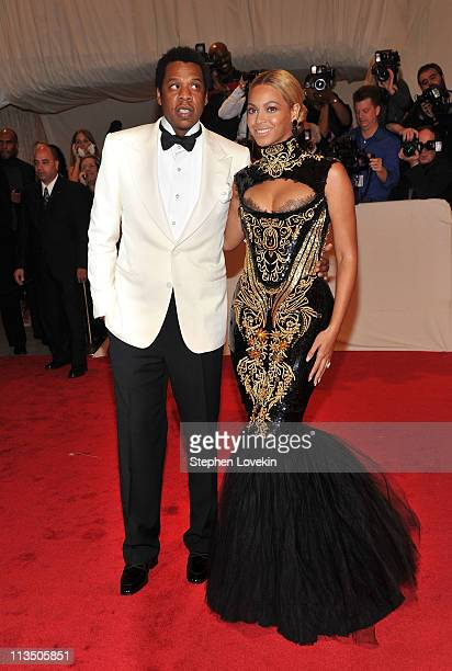 Jay Z and Beyonce attend the 'Alexander McQueen Savage Beauty' Costume Institute Gala at The Metropolitan Museum of Art on May 2 2011 in New York City