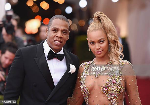 Jay Z and Beyonce attend the 'China Through The Looking Glass' Costume Institute Benefit Gala at the Metropolitan Museum of Art on May 4 2015 in New...