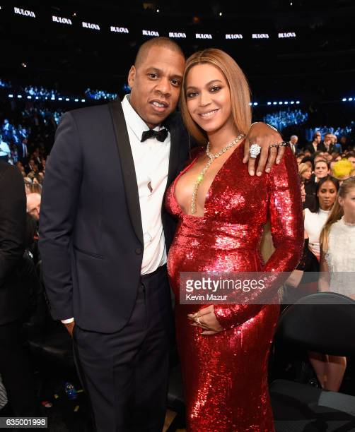 Jay Z and Beyonce during The 59th GRAMMY Awards at STAPLES Center on February 12 2017 in Los Angeles California