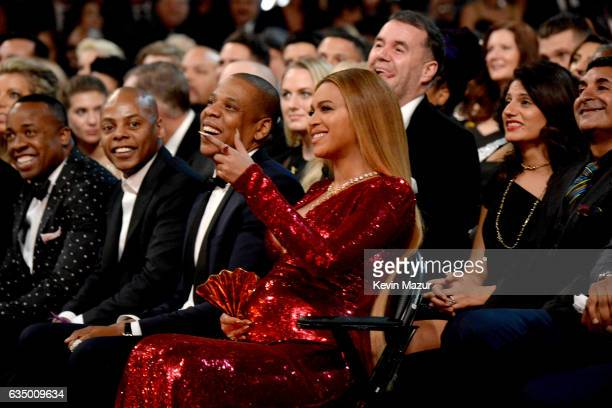 Jay Z and Beyonce during The 59th GRAMMY Awards at STAPLES Center on February 12, 2017 in Los Angeles, California.
