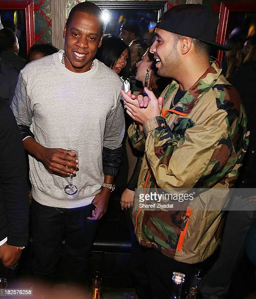Jay Z and Drake attend Kevin Durant's birthday party at Avenue on September 22 2013 in New York City