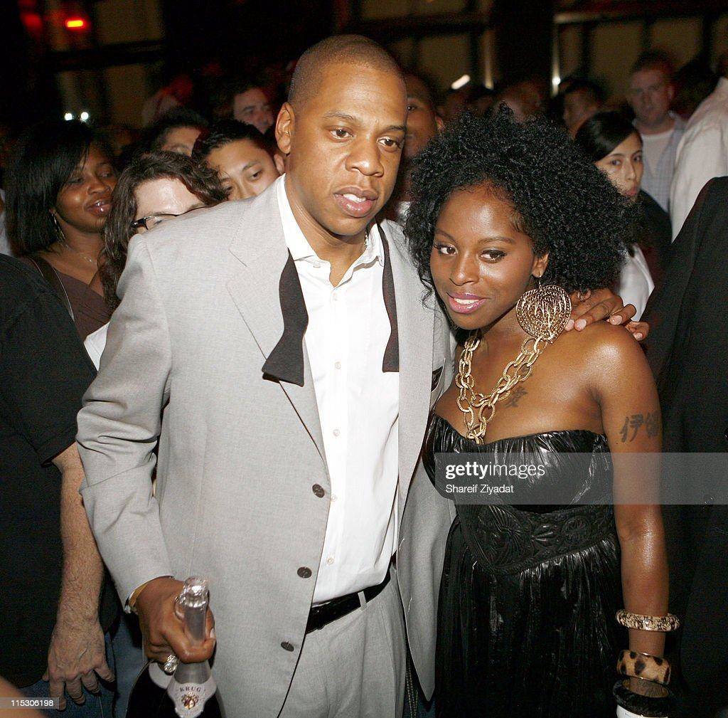 Jay Z and Foxy Brown during Jay-Z Celebrates the 10th Anniversary of 'Reasonable Doubt' - Inside at Rainbow Room in New York, United States.