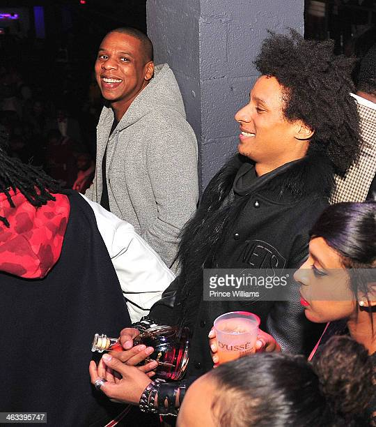 Jay Z and Laurent Bourgeois attend the Magna Carter Tour Afterparty at Echostage on January 16 2014 in Washington DC