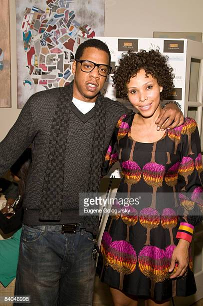Jay Z and Maddi Nelson attend the Launch of Holm Spa at Jeunesse Spa / Fabio Scalia Salon on December 15 2008 in New York City