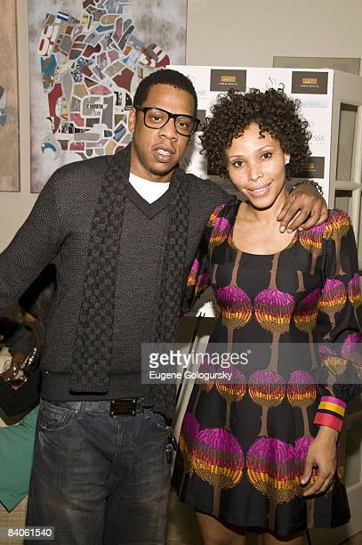 Jay Z and Maddi Nelson attend the Launch of Holm Spa at Jeunesse Spa / Fabio Scalia Salon on December 15, 2008 in New York City.