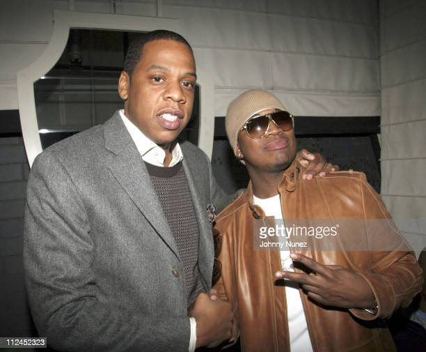 Jay Z and NeYo during Nokia and Def Jam Presents NeYo Album Release Party at Vice Roy Hotel in Los Angeles California United States