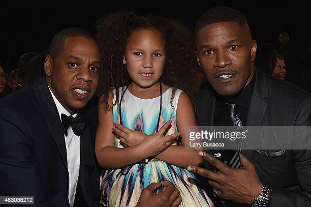 Jay Z Annalise Bishop and actor Jamie Foxx attends The 57th Annual GRAMMY Awards at the STAPLES Center on February 8 2015 in Los Angeles California