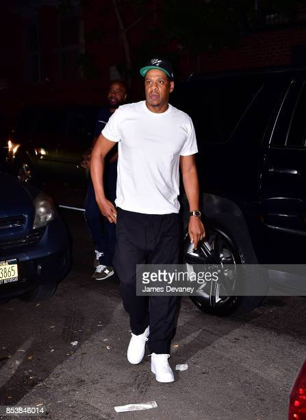 Jay Z arrives to Carbone on September 25 2017 in New York City