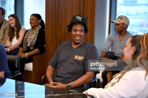 Jay Z at the Roc Nation and NFL Partnership Announcement at Roc Nation on August 14, 2019 in New York City.