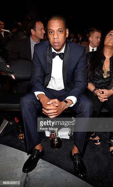 Jay Z attends The 57th Annual GRAMMY Awards at STAPLES Center on February 8 2015 in Los Angeles California
