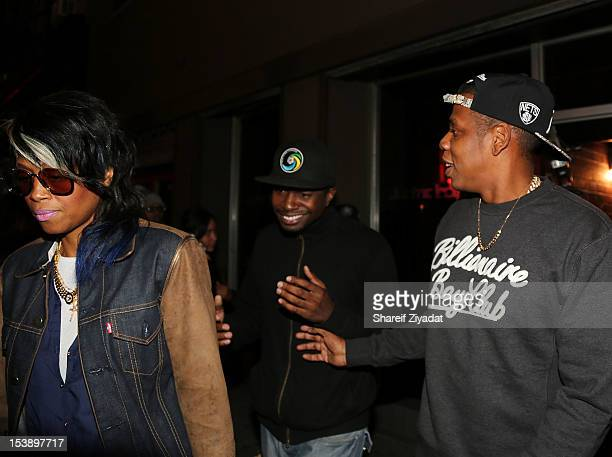 """Jay Z attends the album listening party of Meek Mill's """"Dreams and Nightmare"""" at Electric Lady Studio on October 10, 2012 in New York City."""