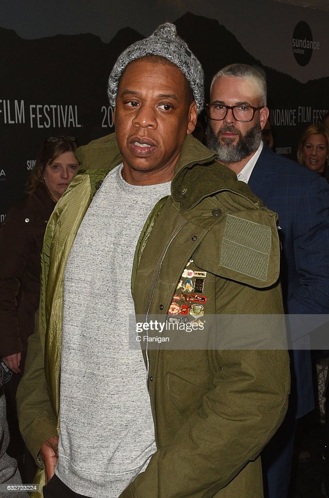 Jay Z attends the premiere for 'TIME: The Kalief Browder Story' at the MARC during the 2017 Sundance Film Festival on January 25, 2017 in Park City, Utah.