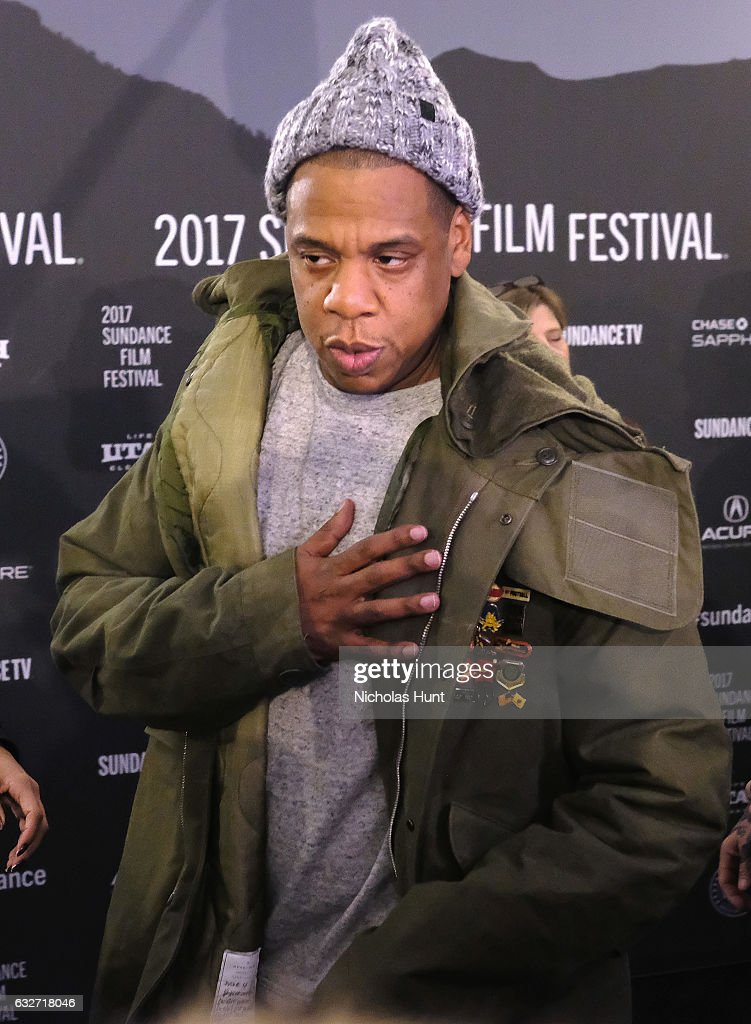 Jay Z attends the 'Time: The Kalief Browder Story' Premiere - 2017 Sundance Film Festival at The Marc Theatre on January 25, 2017 in Park City, Utah.