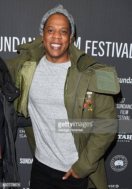 Jay Z attends the 'Time The Kalief Browder Story' Premiere 2017 Sundance Film Festival at The Marc Theatre on January 25 2017 in Park City Utah