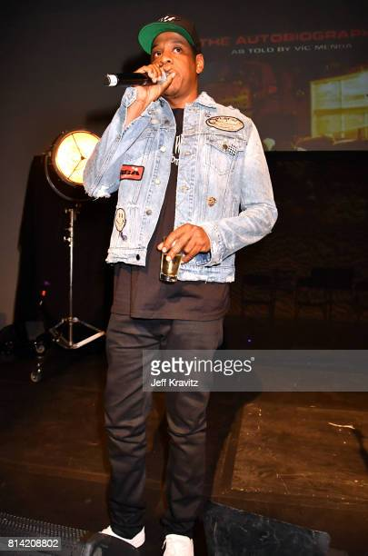 Jay Z attends Vic Mensa The Autobiography Showcase at Mack Sennett Studios on July 13 2017 in Los Angeles California
