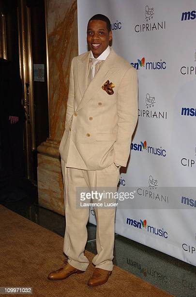 Jay Z during Mariah Carey's Album Release Party for The Emancipation of Mimi at Ciprianis 5th Avenue in New York City, New York, United States.