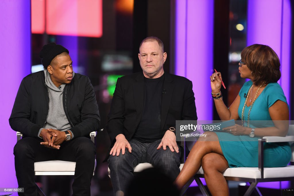 Jay Z, Harvey Weinstein, and Gayle King speak onstage during