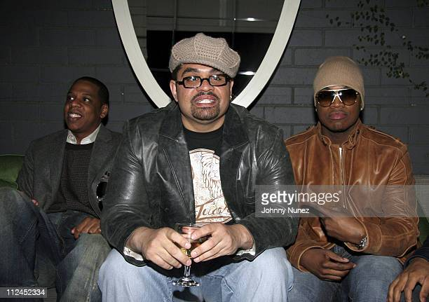 Jay Z Heavy D and NeYo during Nokia and Def Jam Presents NeYo Album Release Party at Vice Roy Hotel in Los Angeles California United States