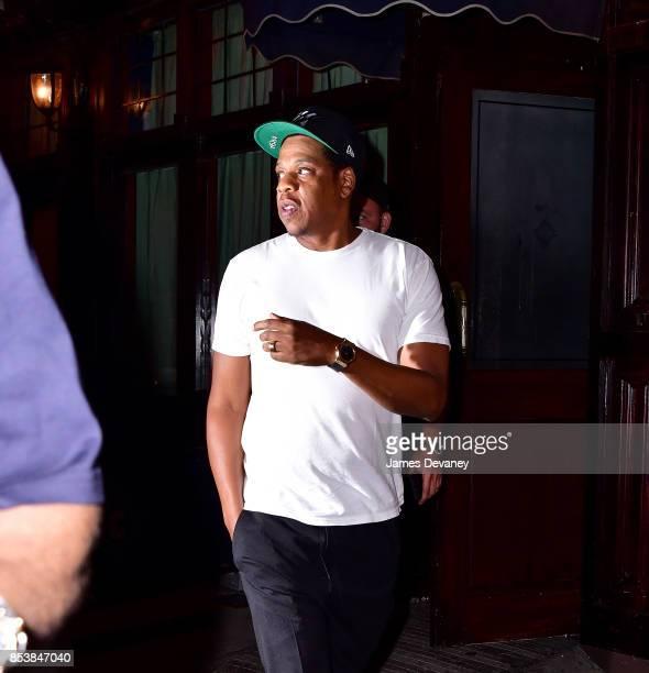 Jay Z leaves Carbone on September 25 2017 in New York City