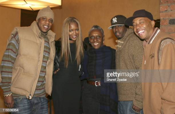Jay Z Naomi Campbel Beth Ann Hardison Sean Diddy Combs and Russell Simmons
