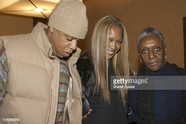 Jay Z Naomi Campbell and Beth Ann Hardison during 50 Cent Hosts Private Screening of Get Rich or Die Tryin October 29 2005 at Tribeca Screening Room...