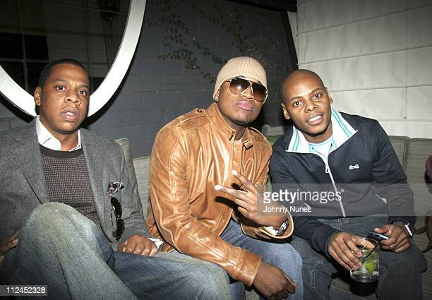 Jay Z NeYo and Ty ty Smith during Nokia and Def Jam Presents NeYo Album Release Party at Vice Roy Hotel in Los Angeles California United States