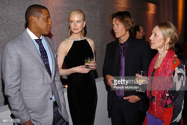Jay Z Nicole Kidman Kevin Bacon and Karin Bacon attend Vanity Fair hosts their Tribeca Film Festival dinner at The State Supreme Courthouse on April...