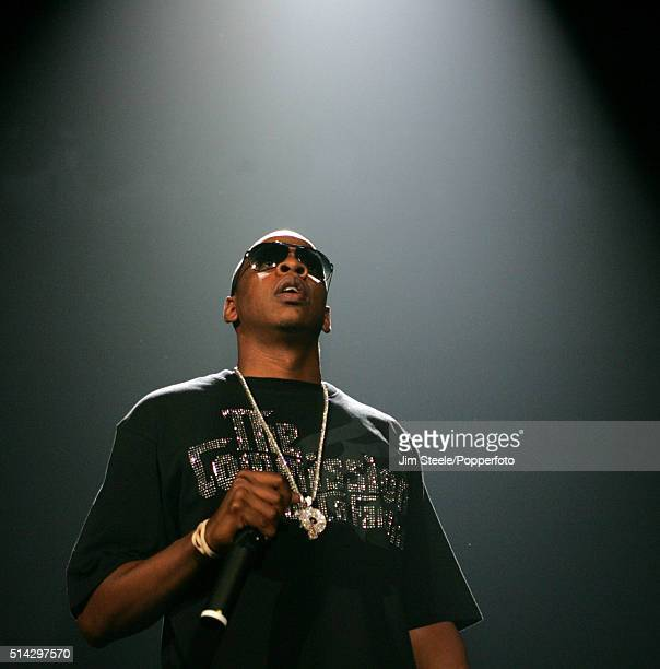Jay Z performing at the Wembley Arena on September 24th 2006 in London England