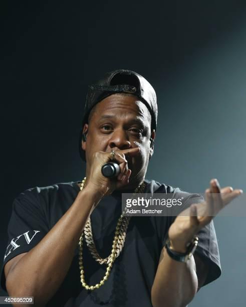 Jay Z performs at Xcel Energy Center on November 30 2013 in St Paul Minnesota
