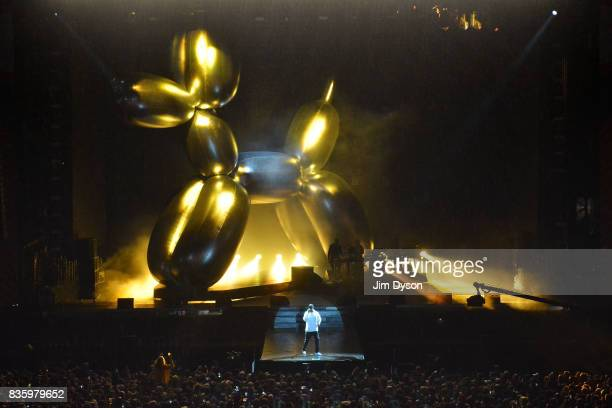 Jay Z performs live on stage during V Festival 2017 at Hylands Park on August 20 2017 in Chelmsford England