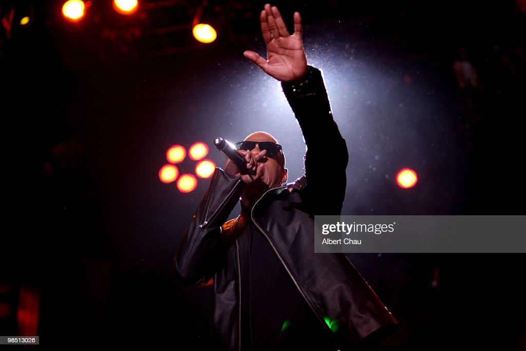 Jay Z performs on Day 1 of the 2010 Coachella Valley Music & Arts Festival at The Empire Polo Club on April 16, 2010 in Indio, California.