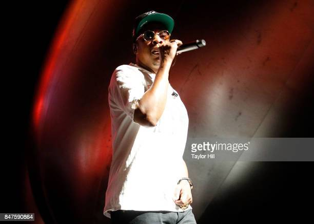 Jay Z performs onstage during Day 1 of The Meadows Music Arts Festival at Citi Field on September 15 2017 in New York City