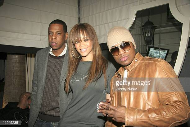 Jay Z Rihanna and NeYo during Nokia and Def Jam Presents NeYo Album Release Party at Vice Roy Hotel in Los Angeles California United States