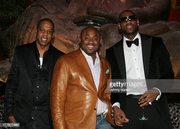 Jay Z Steve Stoute and Lebron James during 2007 NBA AllStar in Las Vegas Jay Z and Lebron James' First Annual Two Kings Dinner and Party at TAO at...