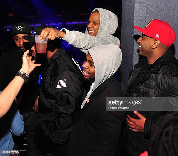 Jay Z Von Smith and Alex Gidewon attend the Magna Carter Tour Afterparty at Echostage on January 16 2014 in Washington DC